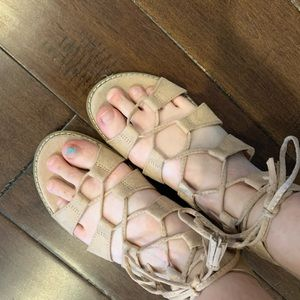 OLD NAVY blush sandals